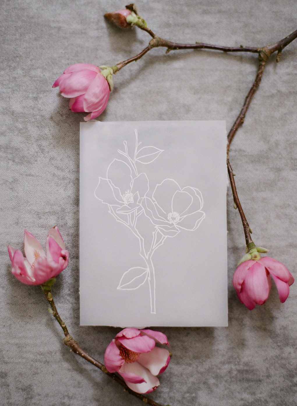 Simple and clean wedding stationary: Soft and Subtle Palettes of Spring Blossoms | Editorial Shoot at The Renaissance Pittsburgh by Exhale Events. See more inspiration at exhale-events.com!