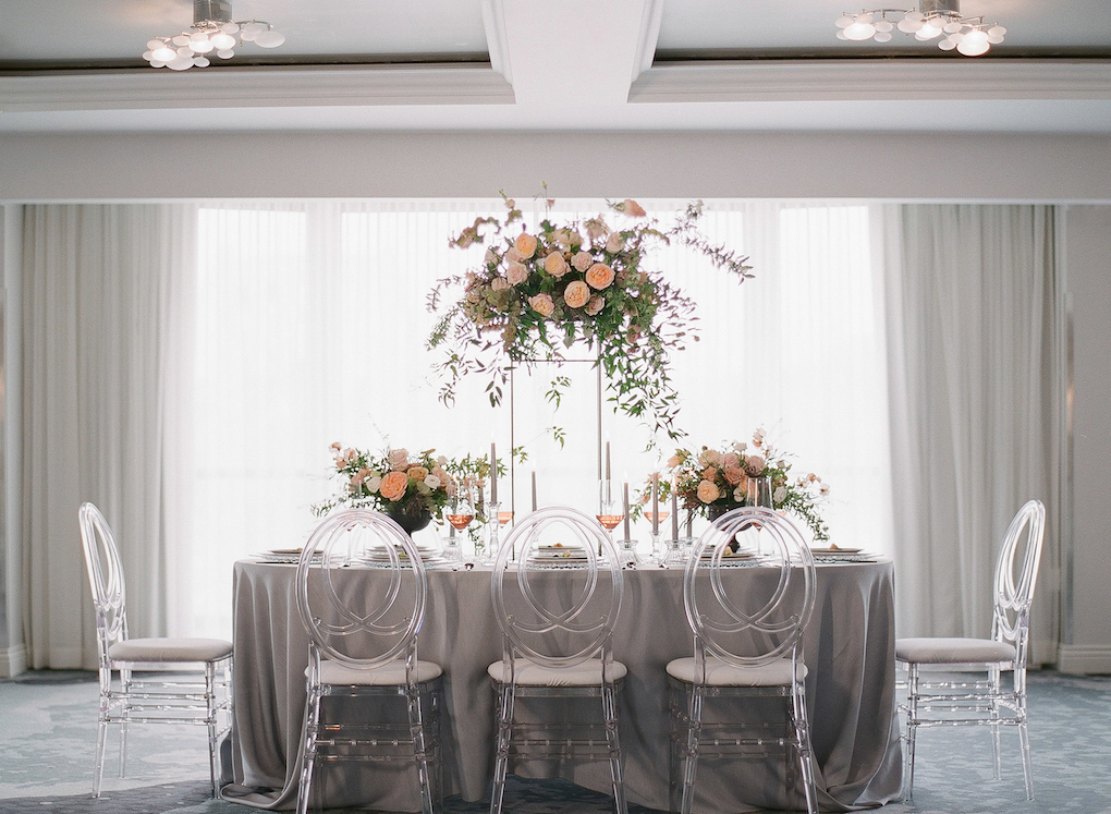 Modern and Timeless Wedding: Soft and Subtle Palettes of Spring Blossoms | Editorial Shoot at The Renaissance Pittsburgh by Exhale Events. See more inspiration at exhale-events.com!