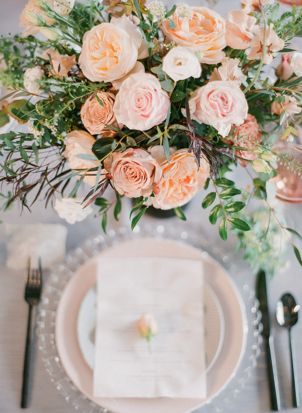 Wedding menu ideas: Soft and Subtle Palettes of Spring Blossoms | Editorial Shoot at The Renaissance Pittsburgh by Exhale Events. See more inspiration at exhale-events.com!