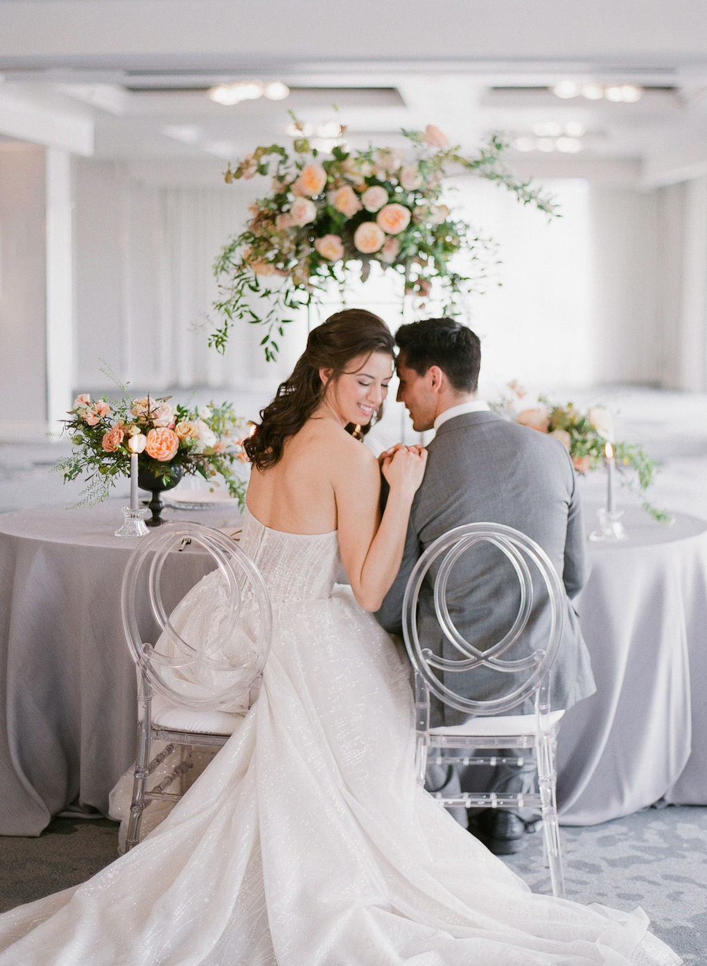 Romantic Table Photos for Your Wedding: Soft and Subtle Palettes of Spring Blossoms | Editorial Shoot at The Renaissance Pittsburgh by Exhale Events. See more inspiration at exhale-events.com!