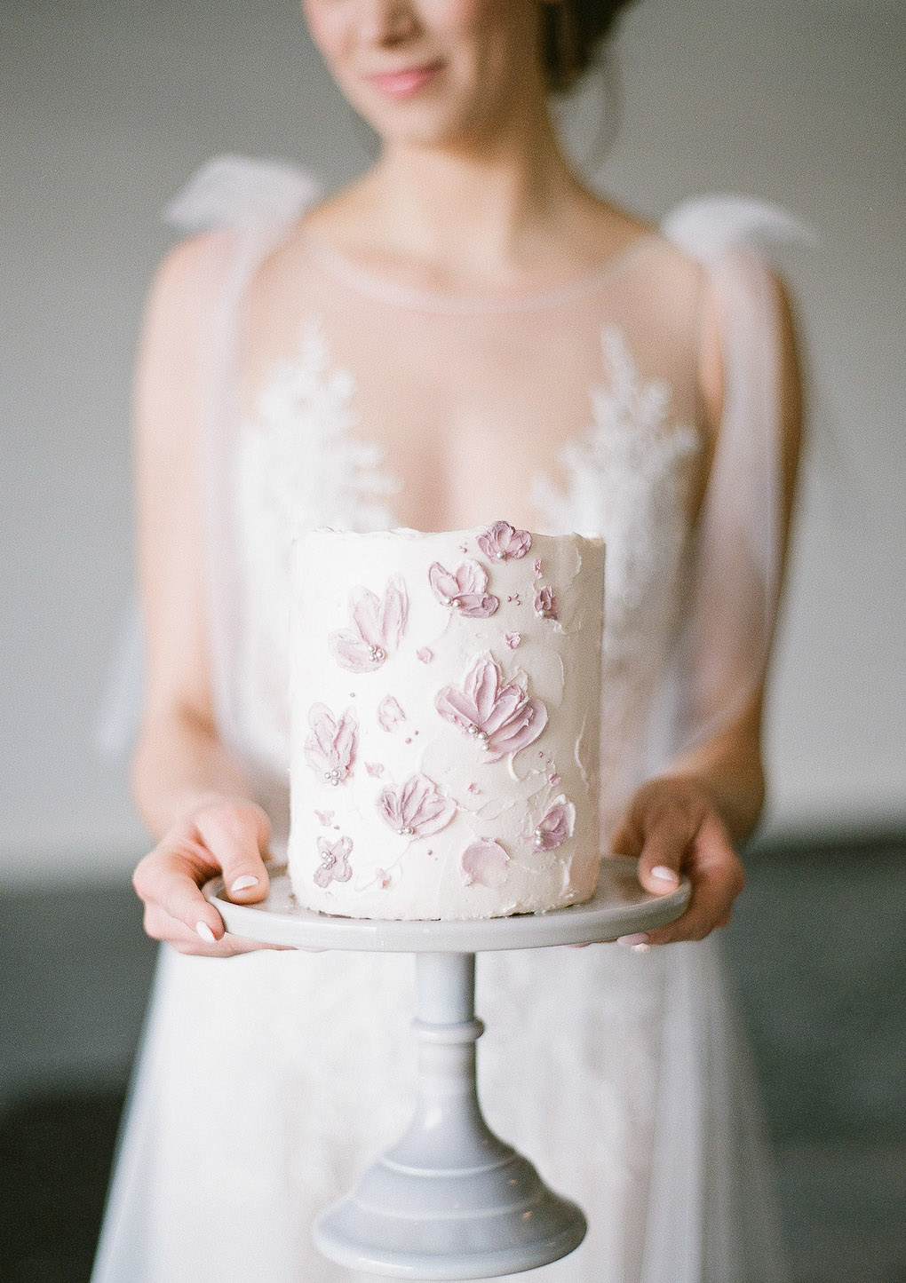 Beautiful pink detailed wedding cake: Soft and Subtle Palettes of Spring Blossoms | Editorial Shoot at The Renaissance Pittsburgh by Exhale Events. See more inspiration at exhale-events.com!