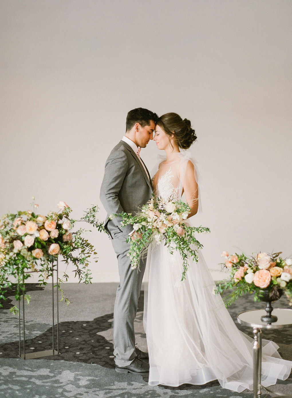 Indoor ceremony options: Soft and Subtle Palettes of Spring Blossoms | Editorial Shoot at The Renaissance Pittsburgh by Exhale Events. See more inspiration at exhale-events.com!