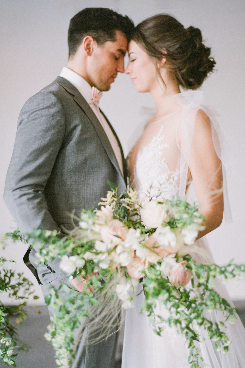 Clean and modern wedding shots: Soft and Subtle Palettes of Spring Blossoms | Editorial Shoot at The Renaissance Pittsburgh by Exhale Events. See more inspiration at exhale-events.com!