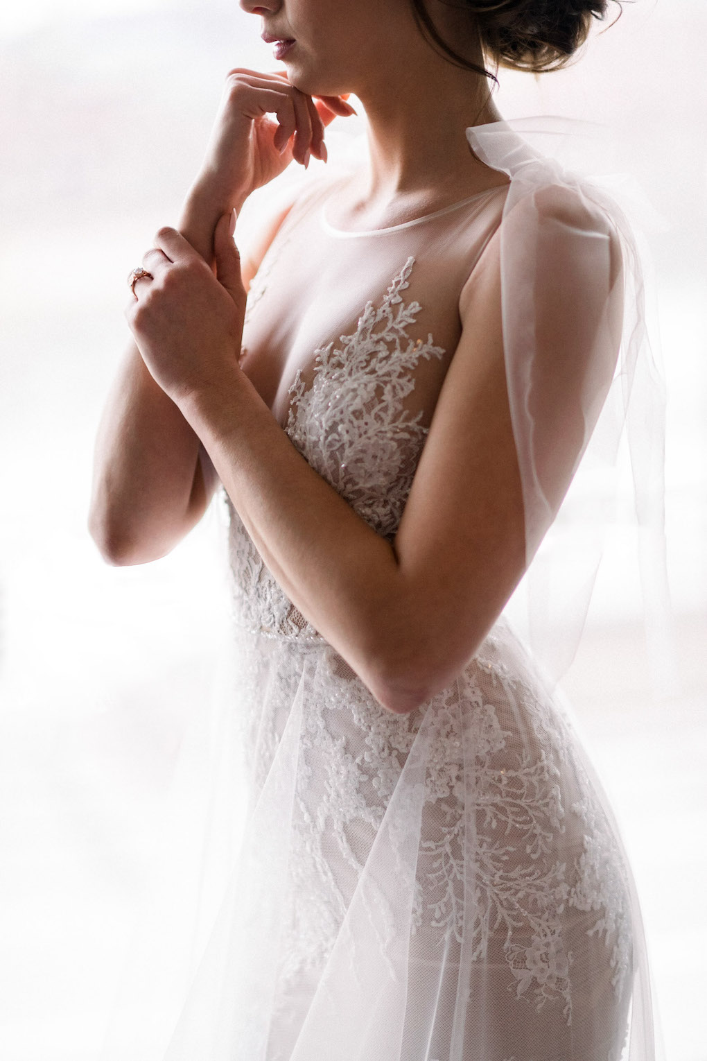 Bridal portrait ideas: Soft and Subtle Palettes of Spring Blossoms | Editorial Shoot at The Renaissance Pittsburgh by Exhale Events. See more inspiration at exhale-events.com!
