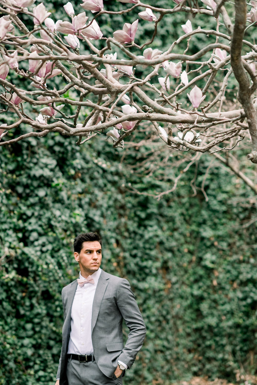 Outdoor wedding shots: Soft and Subtle Palettes of Spring Blossoms | Editorial Shoot at The Renaissance Pittsburgh by Exhale Events. See more inspiration at exhale-events.com!