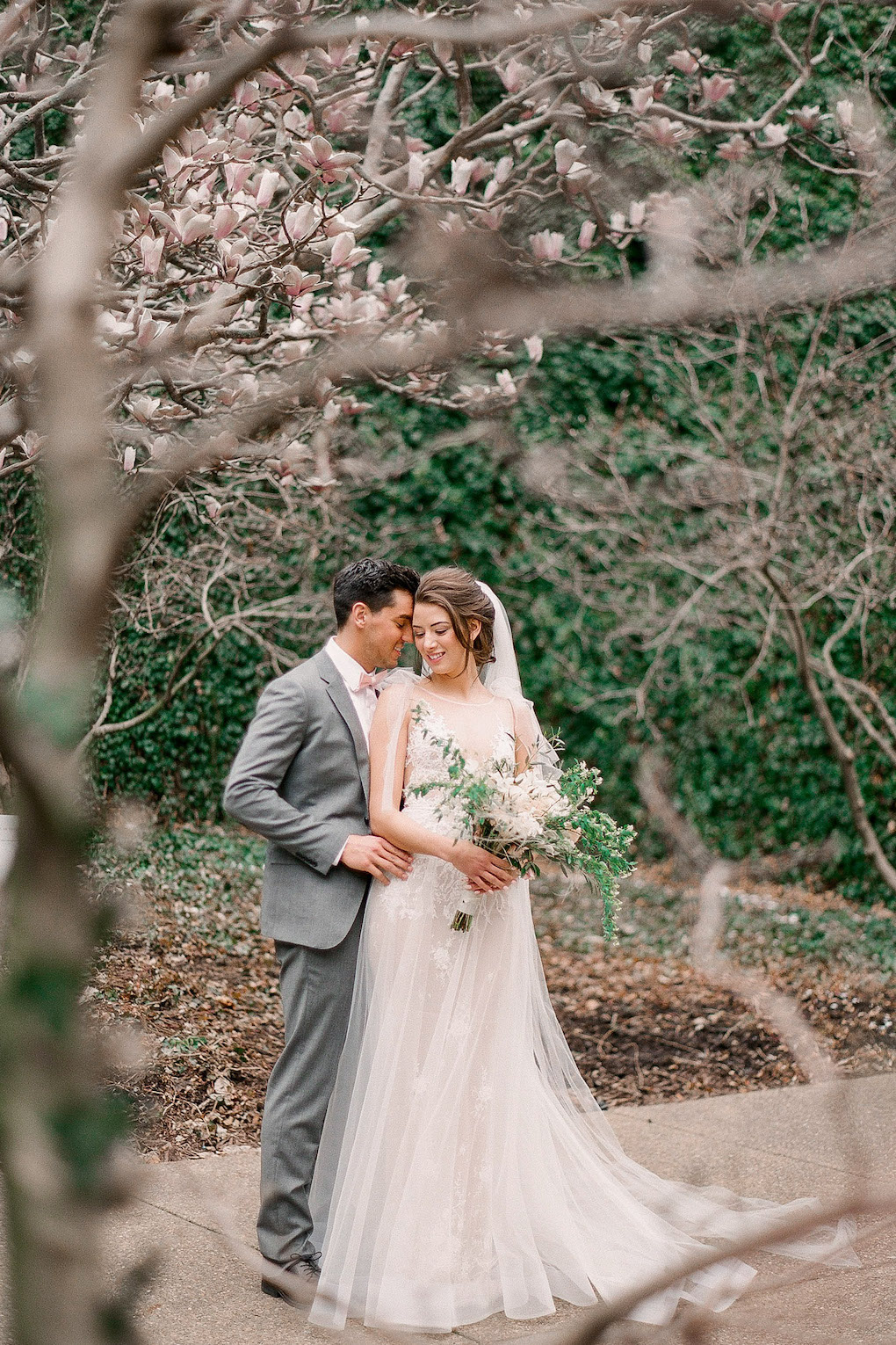Magnolia Garden wedding photos in Pittsburgh:Soft and Subtle Palettes of Spring Blossoms | Editorial Shoot at The Renaissance Pittsburgh by Exhale Events. See more inspiration at exhale-events.com!