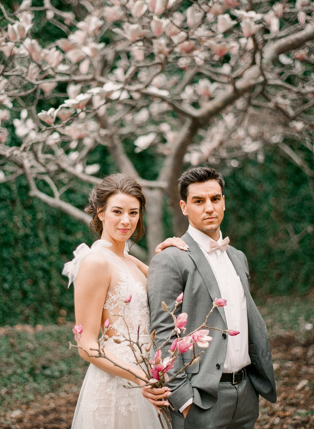 Modern wedding photos in downtown Pittsburgh:Soft and Subtle Palettes of Spring Blossoms | Editorial Shoot at The Renaissance Pittsburgh by Exhale Events. See more inspiration at exhale-events.com!