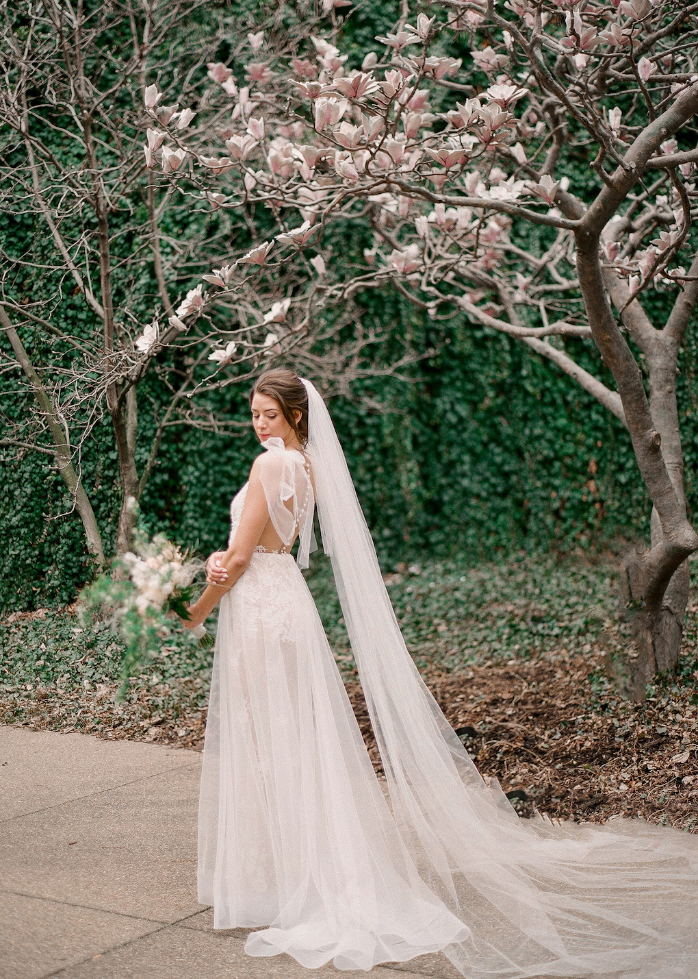 Outdoor wedding photos in downtown Pittsburgh;Soft and Subtle Palettes of Spring Blossoms | Editorial Shoot at The Renaissance Pittsburgh by Exhale Events. See more inspiration at exhale-events.com!
