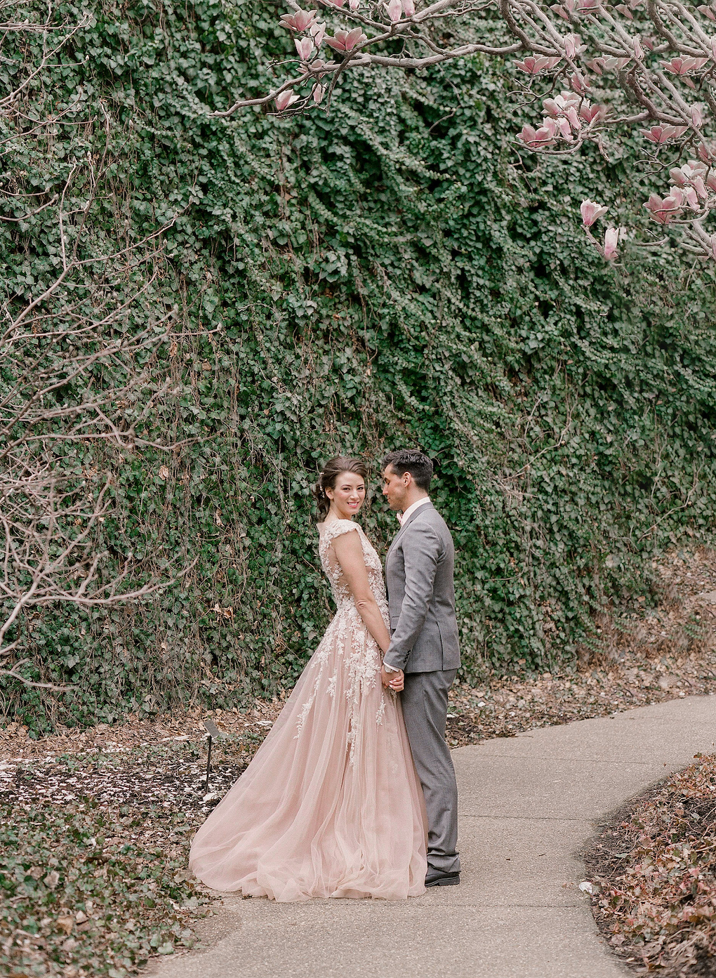 Romantic Garden wedding photos:Soft and Subtle Palettes of Spring Blossoms | Editorial Shoot at The Renaissance Pittsburgh by Exhale Events. See more inspiration at exhale-events.com!