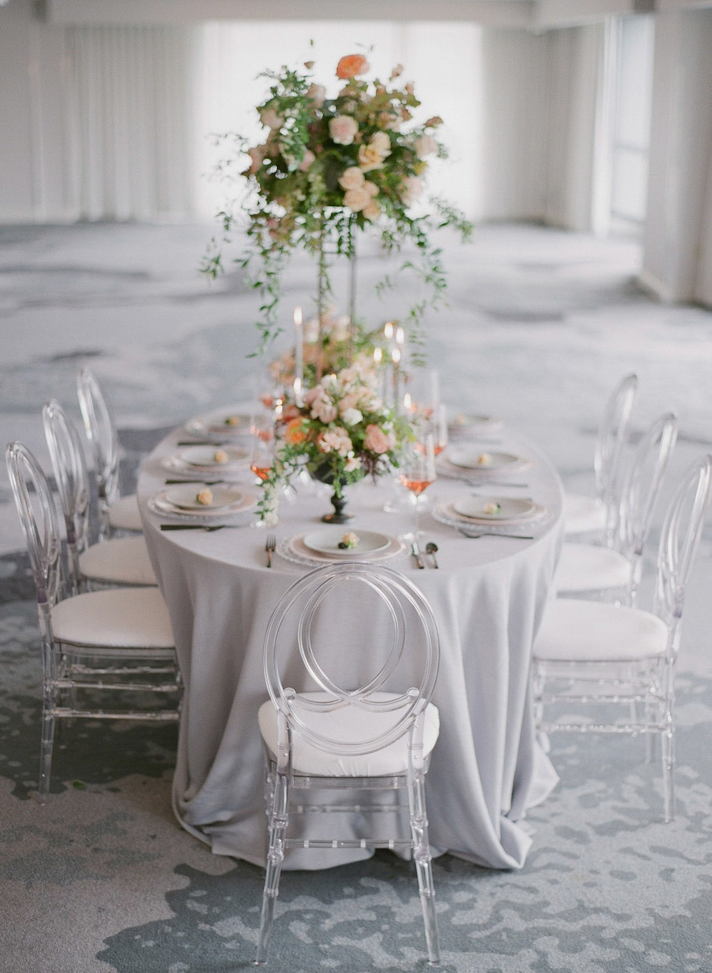 Monochromatic Wedding Color Scheme: Soft and Subtle Palettes of Spring Blossoms | Editorial Shoot at The Renaissance Pittsburgh by Exhale Events. See more inspiration at exhale-events.com!