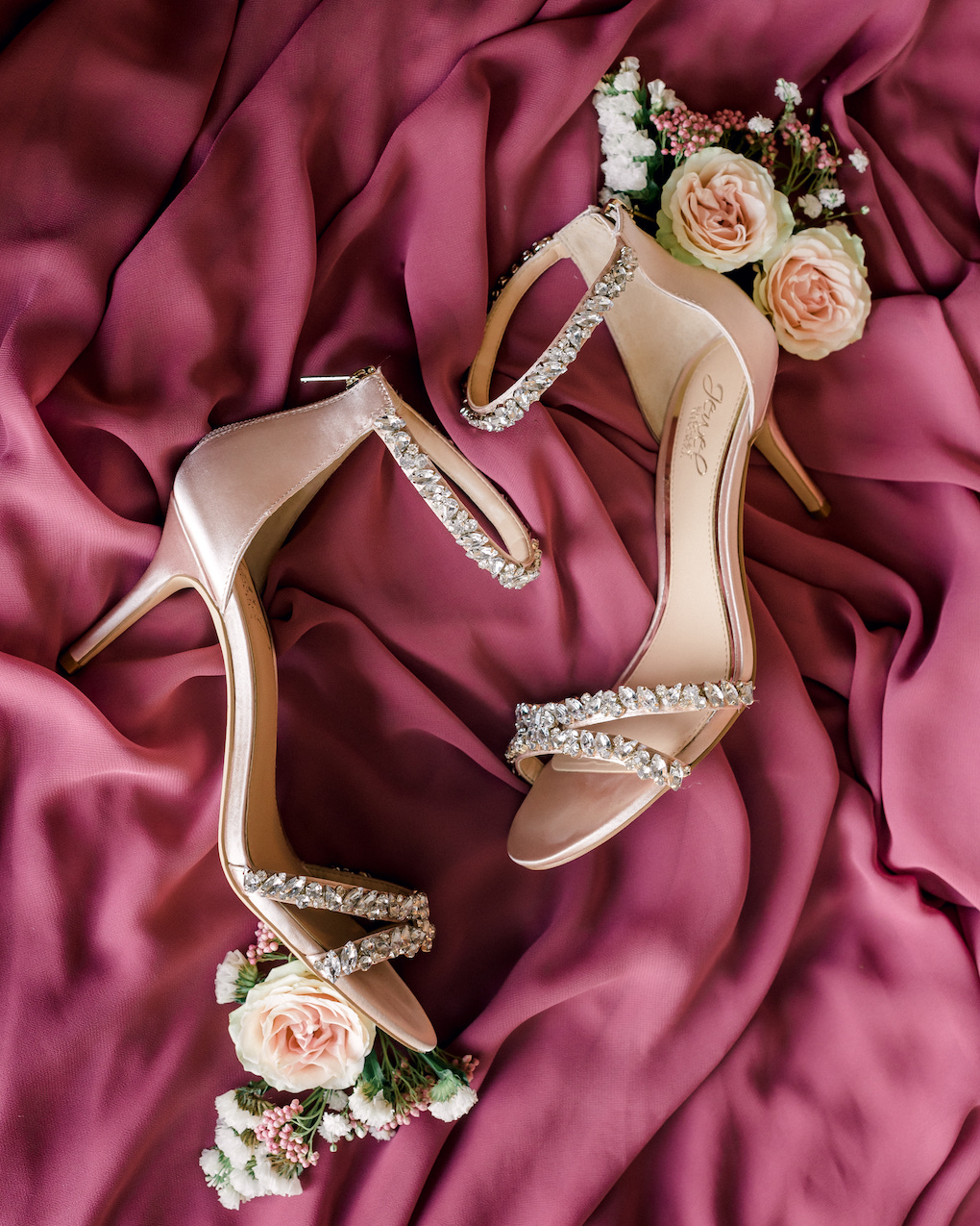 Wedding shoes with bling: Romantic Delicate Summer Wedding in Pittsburgh planned by Exhale Events. See more at exhale-events.com!