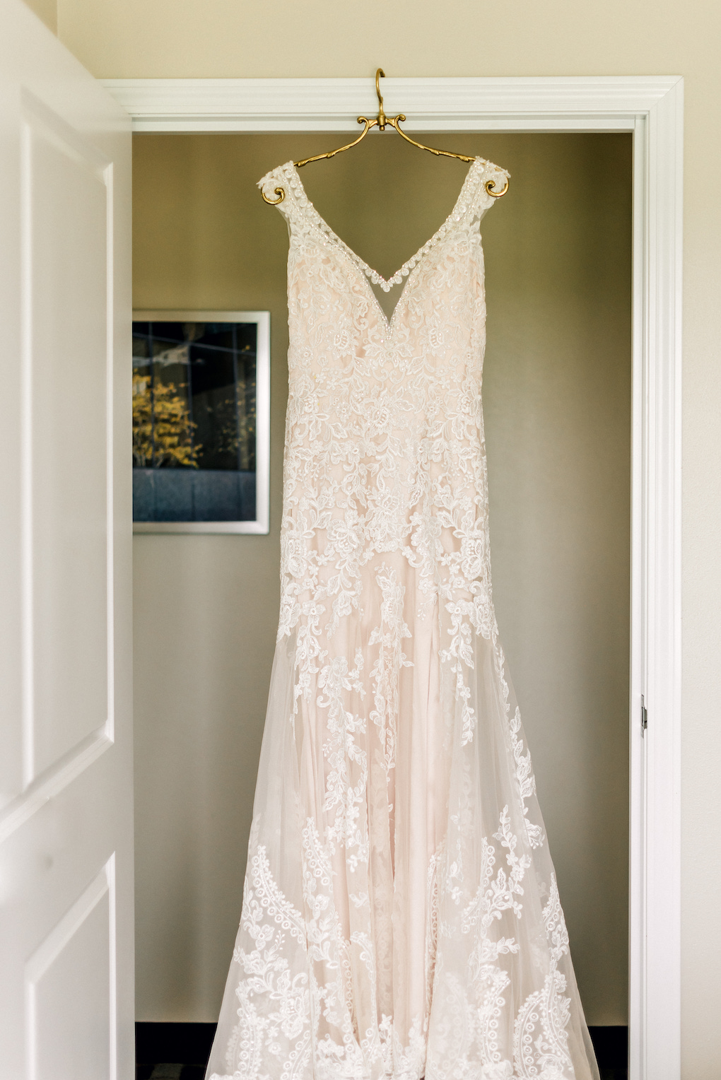Classic wedding dress with lace: Romantic Delicate Summer Wedding in Pittsburgh planned by Exhale Events. See more at exhale-events.com!