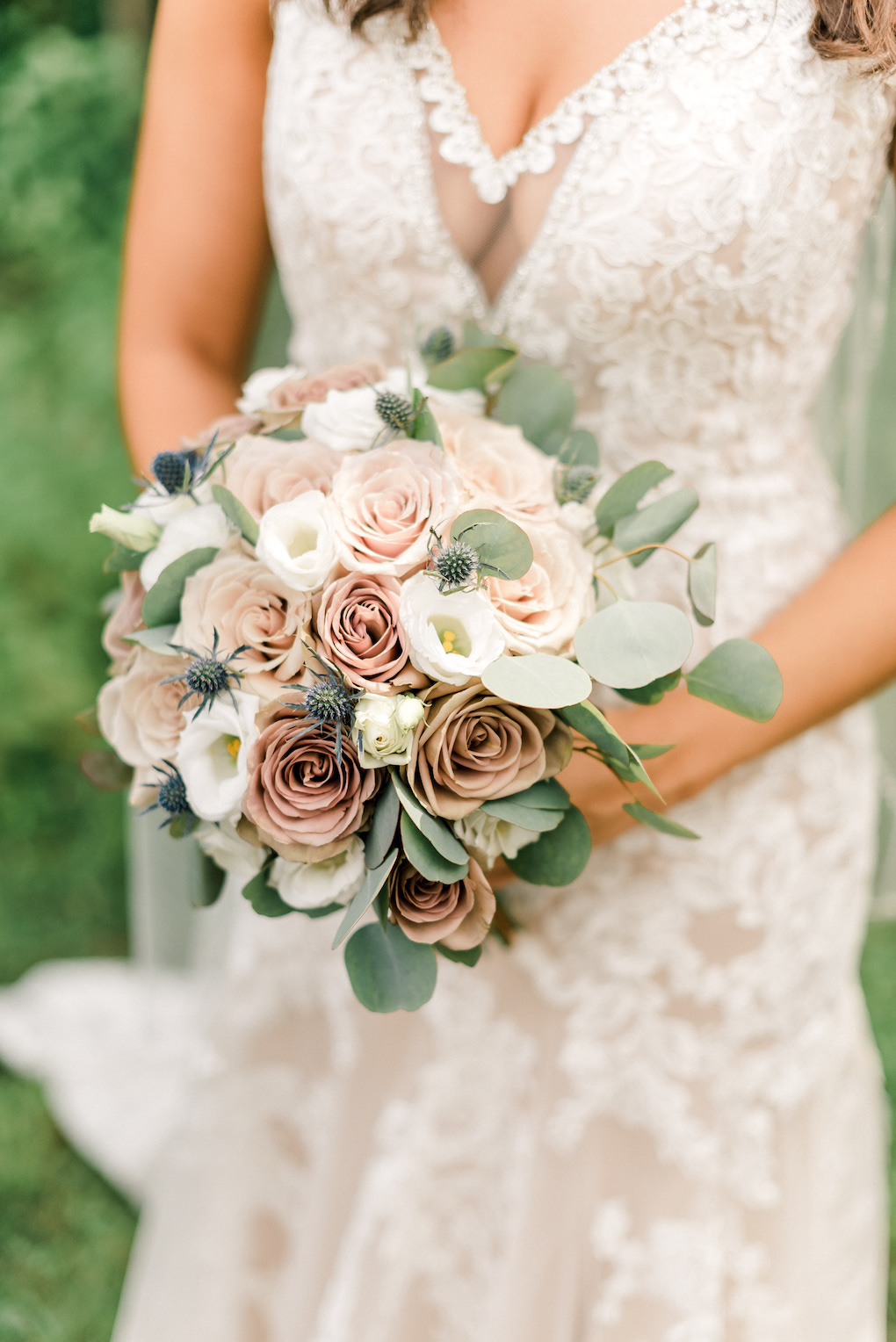 Soft palette bridal bouquet inspiration: Romantic Delicate Summer Wedding in Pittsburgh planned by Exhale Events. See more at exhale-events.com!