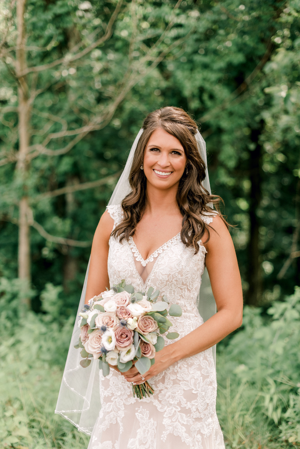 Romantic wedding dress and bouquet ideas: Romantic Delicate Summer Wedding in Pittsburgh planned by Exhale Events. See more at exhale-events.com!