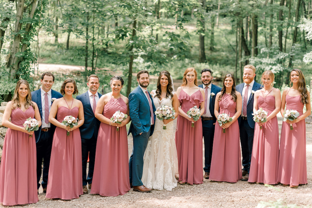 Rose and Navy bridal party inspiration: Romantic Delicate Summer Wedding in Pittsburgh planned by Exhale Events. See more at exhale-events.com!