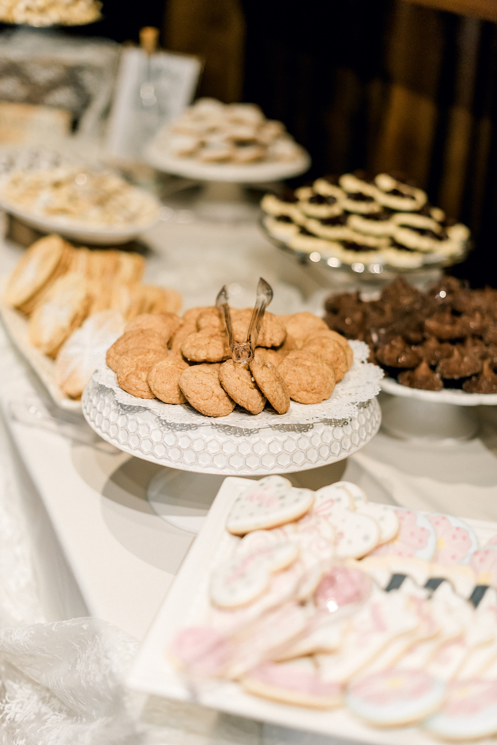 The Pittsburgh Cookie Table: Romantic Delicate Summer Wedding in Pittsburgh planned by Exhale Events. See more at exhale-events.com!