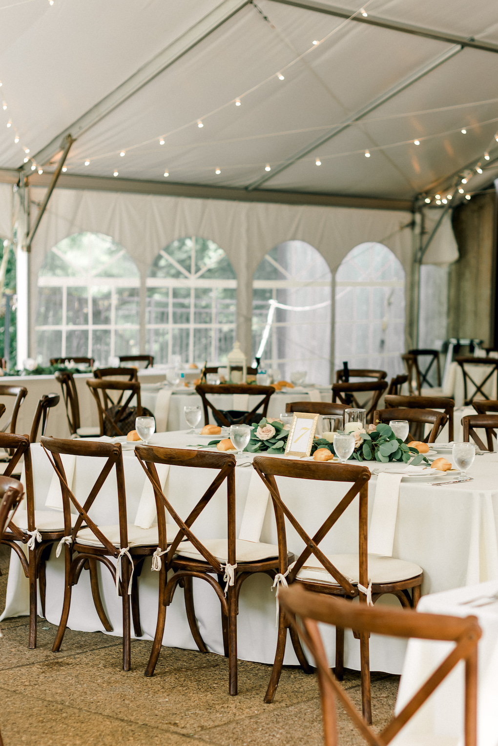 Farm chairs for outdoor wedding ceremony: Romantic Delicate Summer Wedding in Pittsburgh planned by Exhale Events. See more at exhale-events.com!