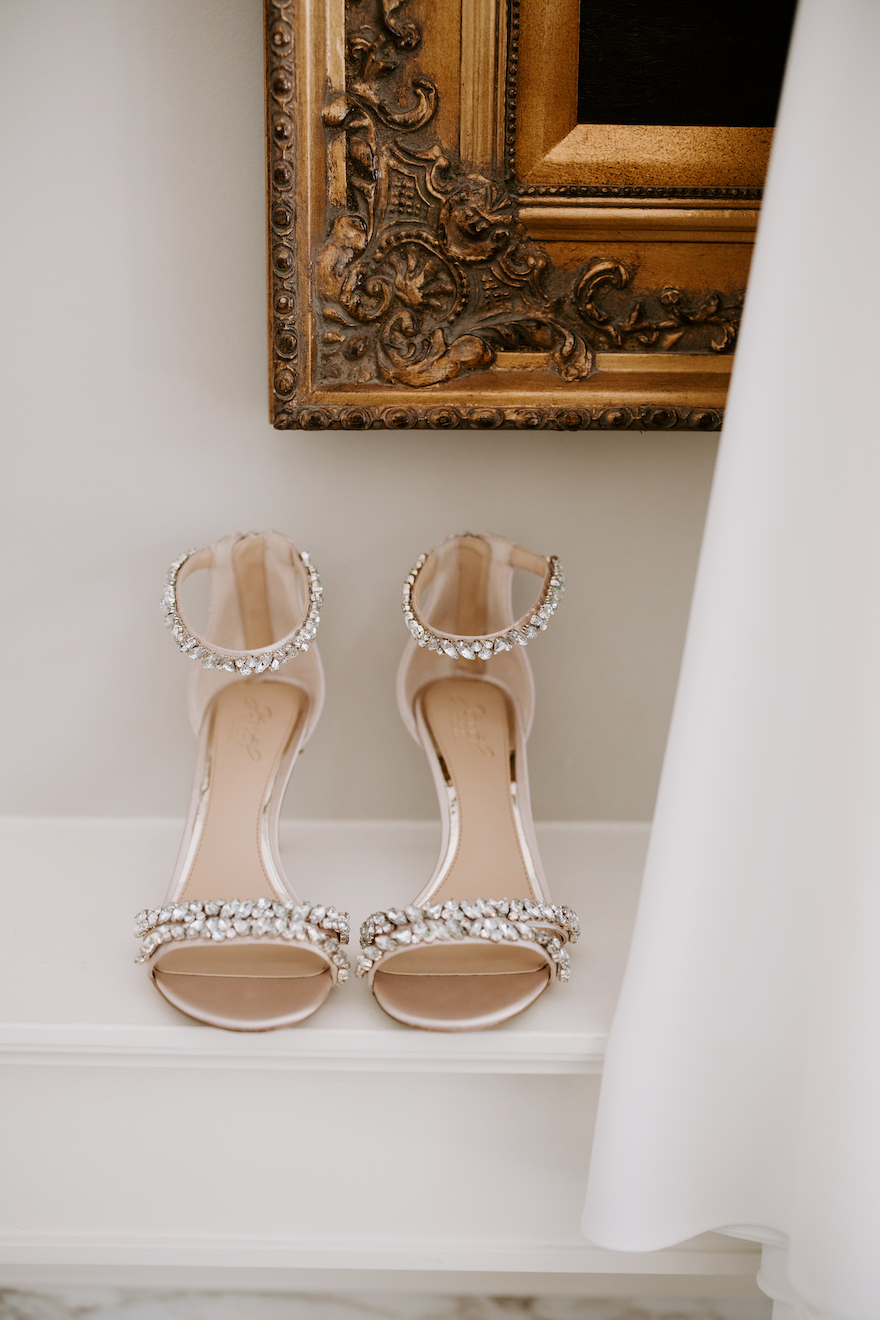 Classic wedding shoes: Elegant and Classic Garden Wedding planned by Exhale Events. See more at exhale-events.com!