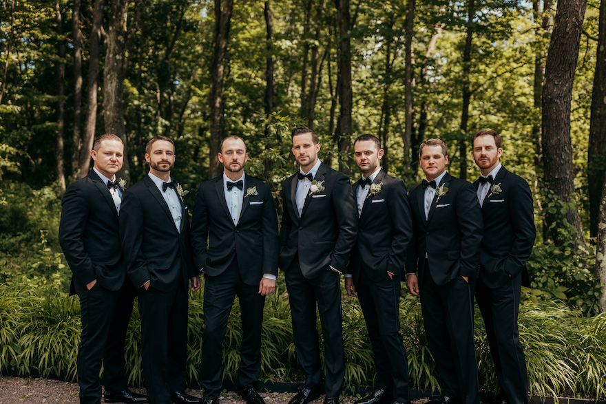 Classic wedding look for guys: Elegant and Classic Garden Wedding planned by Exhale Events. See more at exhale-events.com!