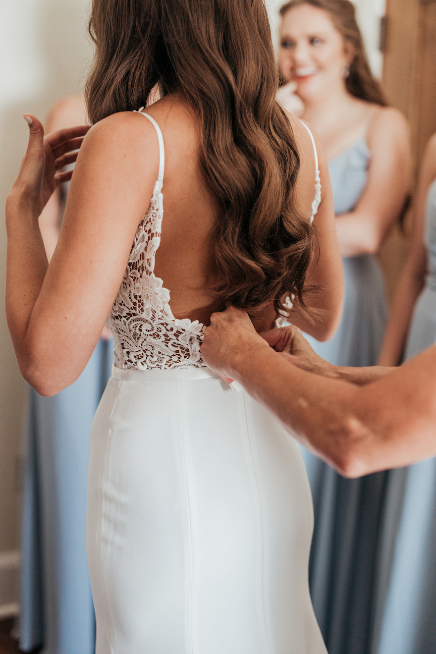 Elegant wedding dress: Elegant and Classic Garden Wedding planned by Exhale Events. See more at exhale-events.com!