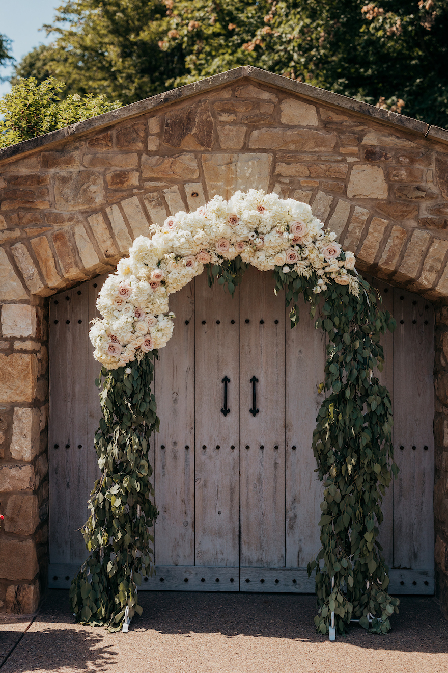 Romantic Wedding Arch: Elegant and Classic Garden Wedding planned by Exhale Events. See more at exhale-events.com!