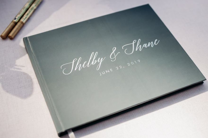 Beautiful guest book for bride and groom: Elegant and Classic Garden Wedding planned by Exhale Events. See more at exhale-events.com!