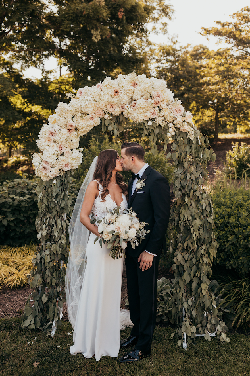 Wedding portraits for outdoor ceremony: Elegant and Classic Garden Wedding planned by Exhale Events. See more at exhale-events.com!