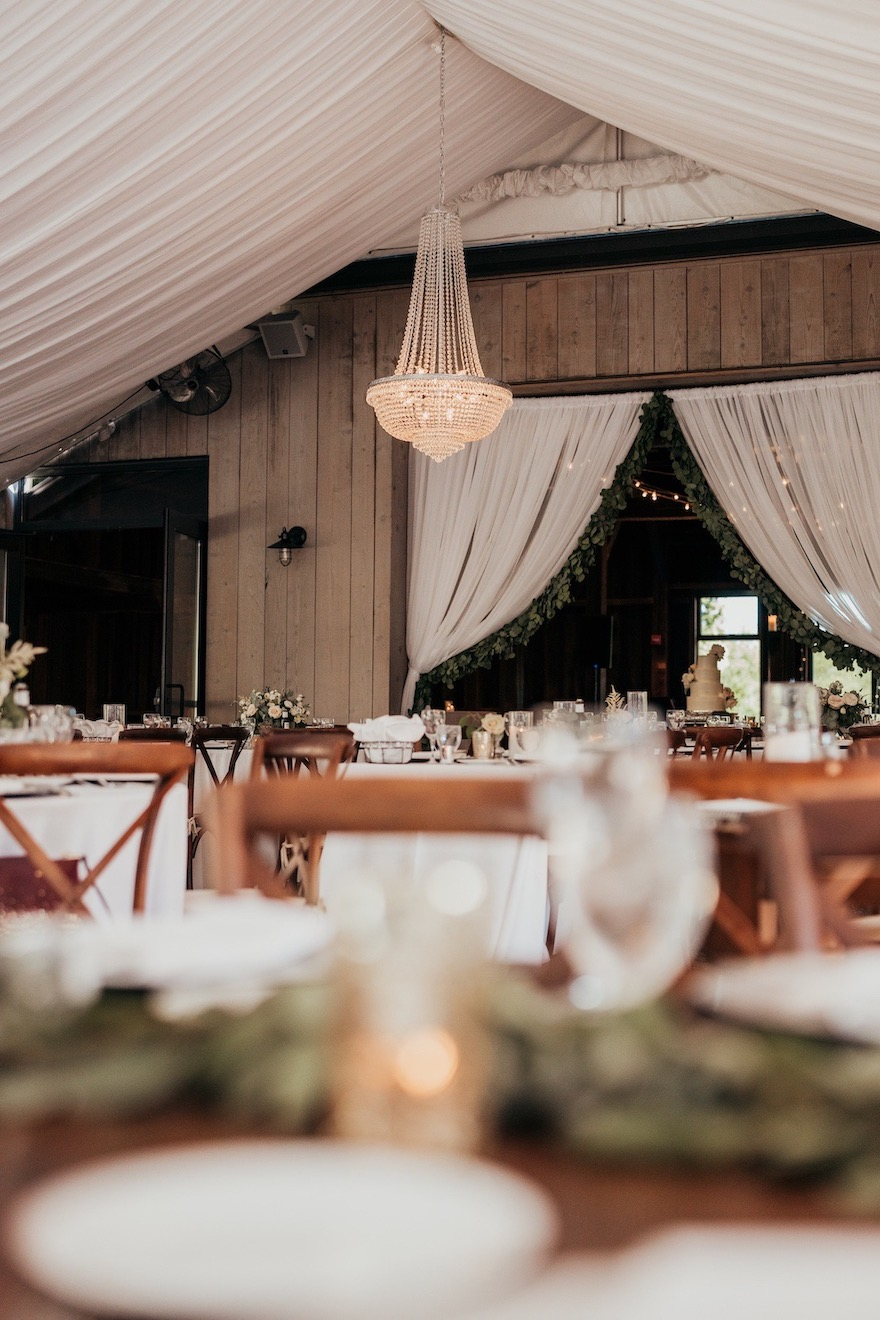 Wedding tenting with chandelier: Elegant and Classic Garden Wedding planned by Exhale Events. See more at exhale-events.com!