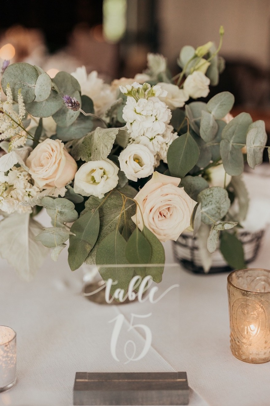 Soft and romantic floral palette: Elegant and Classic Garden Wedding planned by Exhale Events. See more at exhale-events.com!