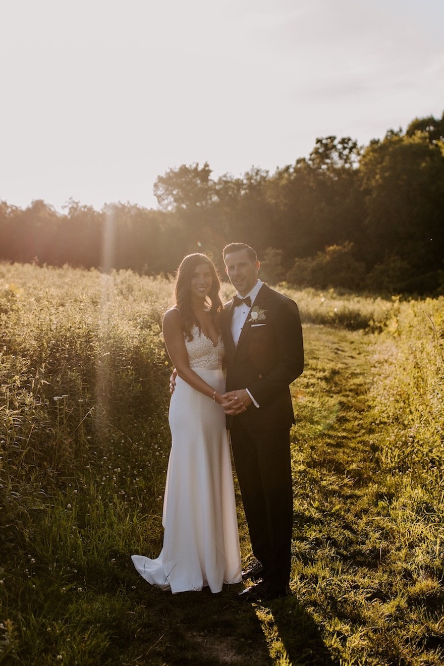Golden hour photos: Elegant and Classic Garden Wedding planned by Exhale Events. See more at exhale-events.com!
