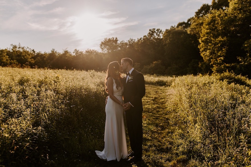 Sunset Photos: Elegant and Classic Garden Wedding planned by Exhale Events. See more at exhale-events.com!