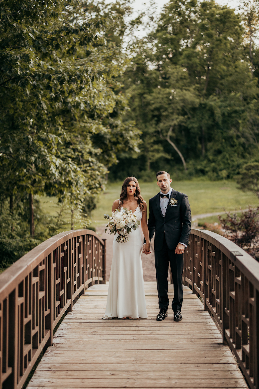 Bride and groom photos: Elegant and Classic Garden Wedding planned by Exhale Events. See more at exhale-events.com!