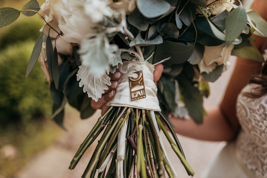 Bouquet detail shot: Elegant and Classic Garden Wedding planned by Exhale Events. See more at exhale-events.com!