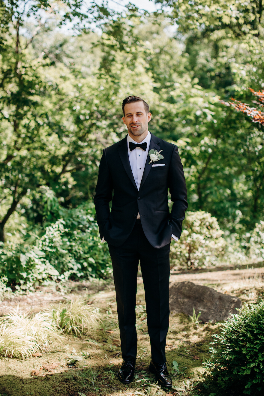 Groom getting ready shots: Elegant and Classic Garden Wedding planned by Exhale Events. See more at exhale-events.com!