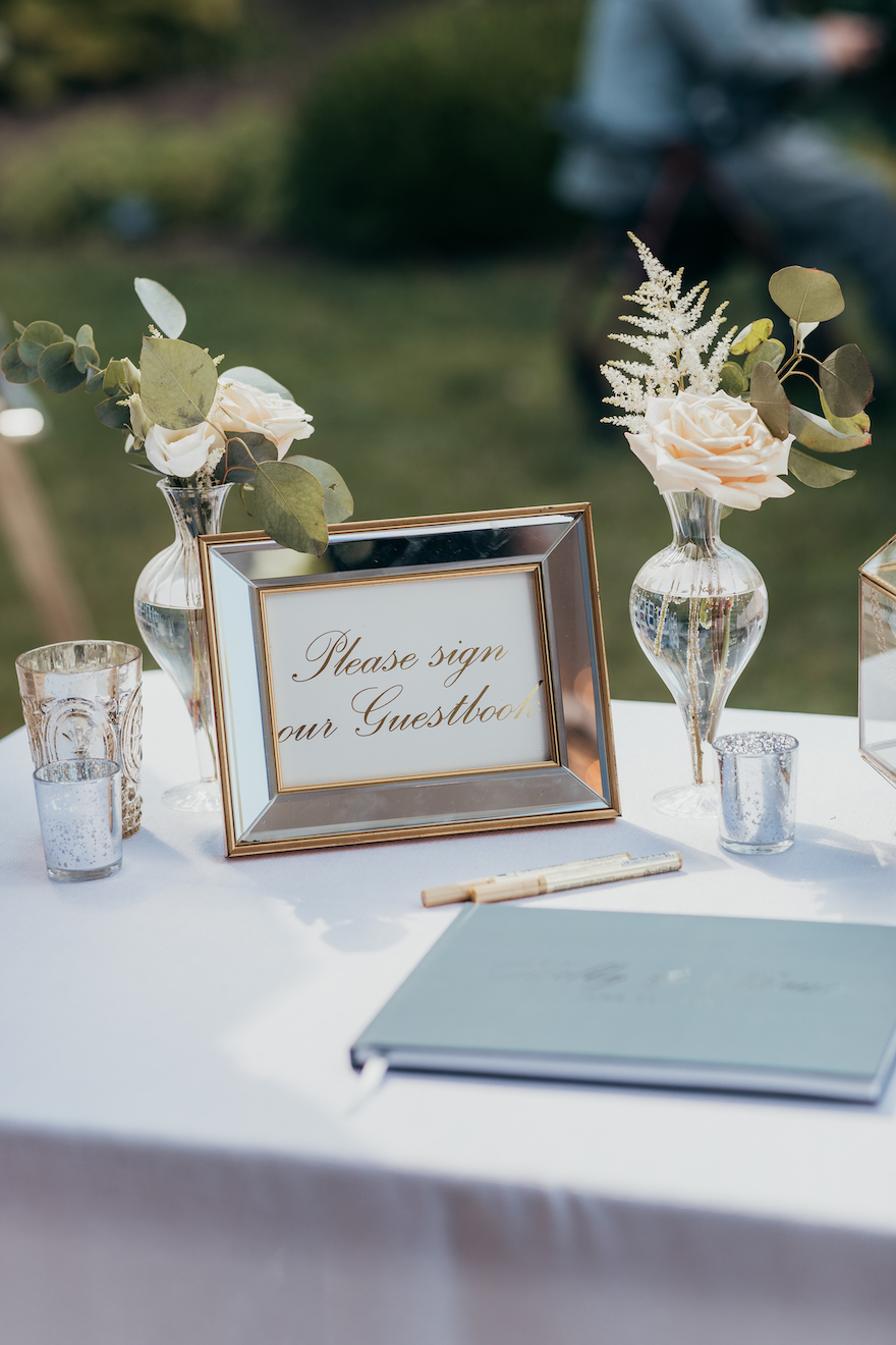 Wedding guest book idea: Elegant and Classic Garden Wedding planned by Exhale Events. See more at exhale-events.com!