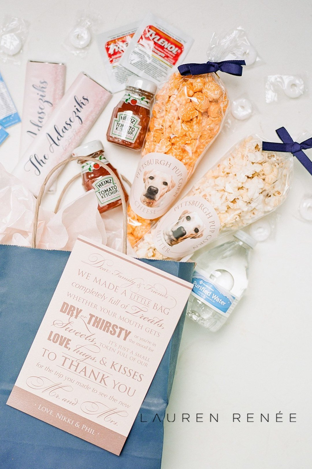 Pittsburgh welcome bag ideas: Romantic Blush Wedding at the Pittsburgh Field Club planned by Exhale Events. See more at exhale-events.com!