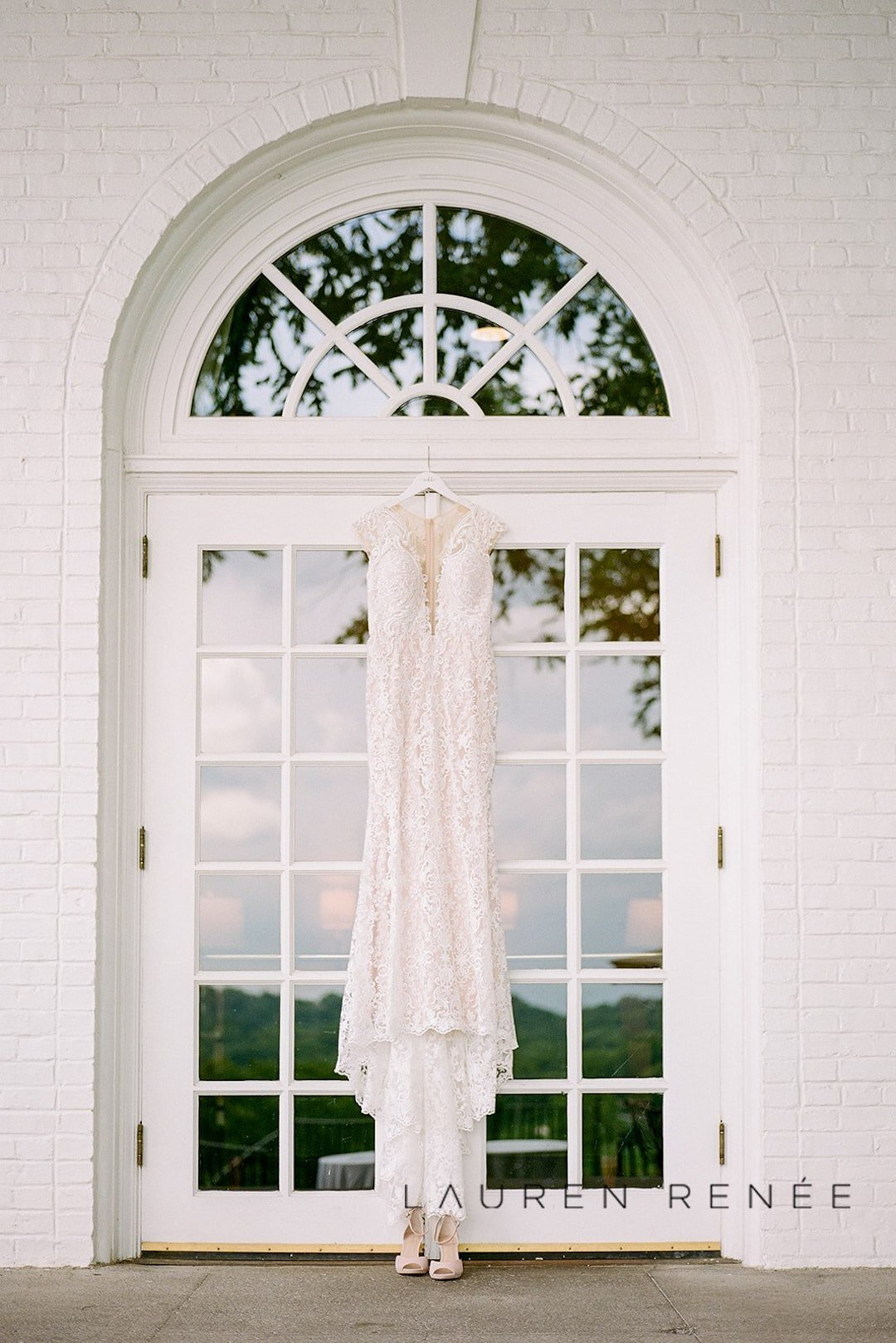 Classic wedding dress shot: Romantic Blush Wedding at the Pittsburgh Field Club planned by Exhale Events. See more at exhale-events.com!