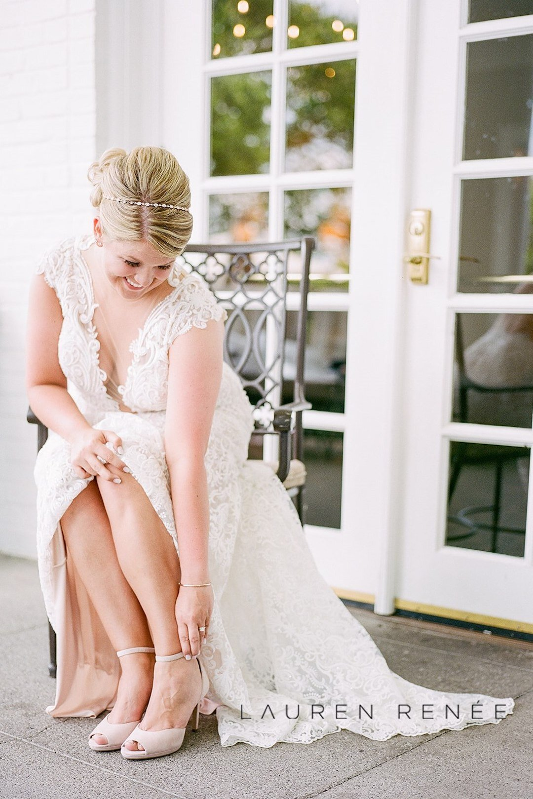 Bride getting ready photo: Romantic Blush Wedding at the Pittsburgh Field Club planned by Exhale Events. See more at exhale-events.com!
