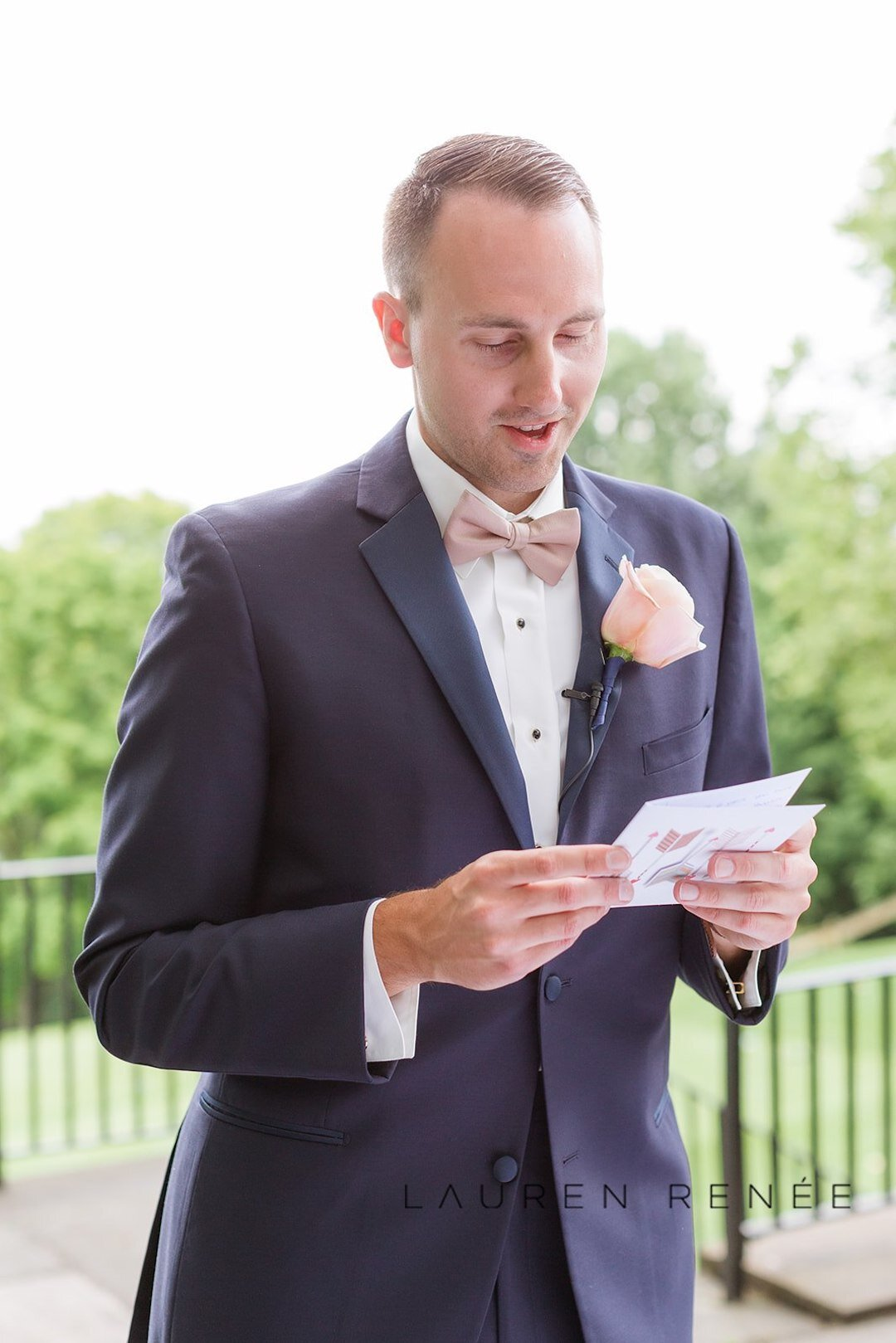 Wedding day gifts for the groom: Romantic Blush Wedding at the Pittsburgh Field Club planned by Exhale Events. See more at exhale-events.com!