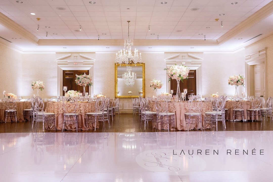 Modern day fairytale wedding: Romantic Blush Wedding at the Pittsburgh Field Club planned by Exhale Events. See more at exhale-events.com!