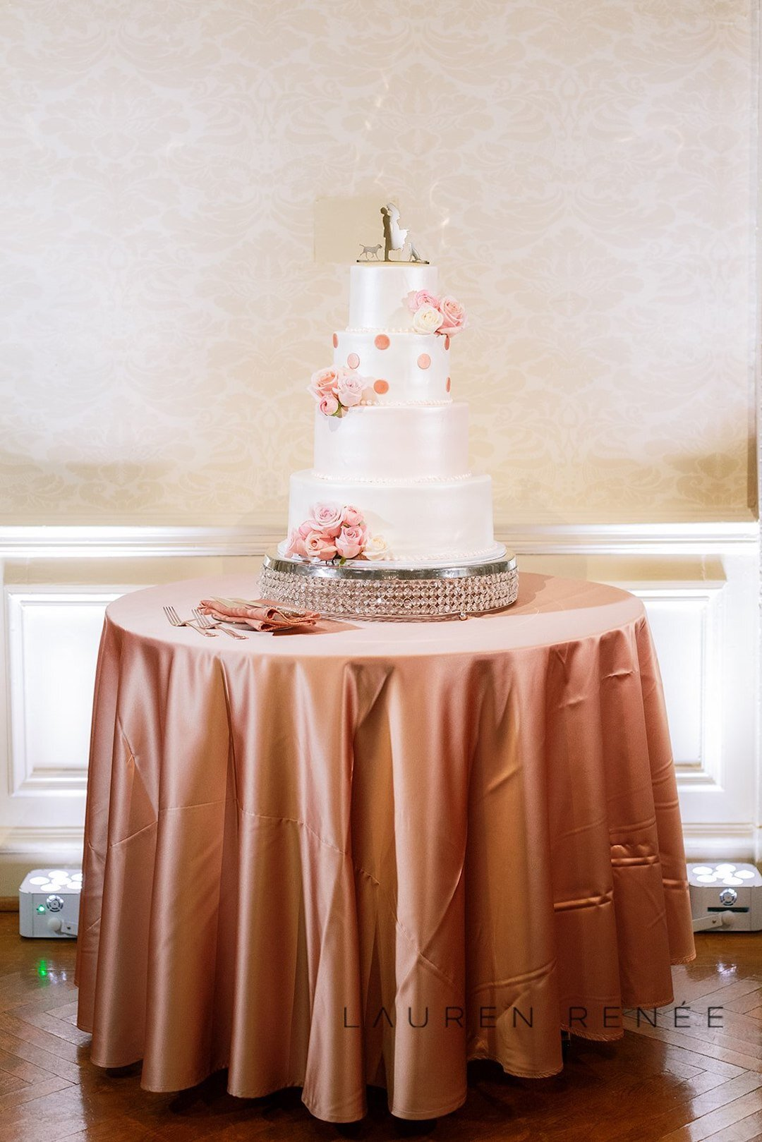 Oakmont Bakery Wedding Cake: Romantic Blush Wedding at the Pittsburgh Field Club planned by Exhale Events. See more at exhale-events.com!