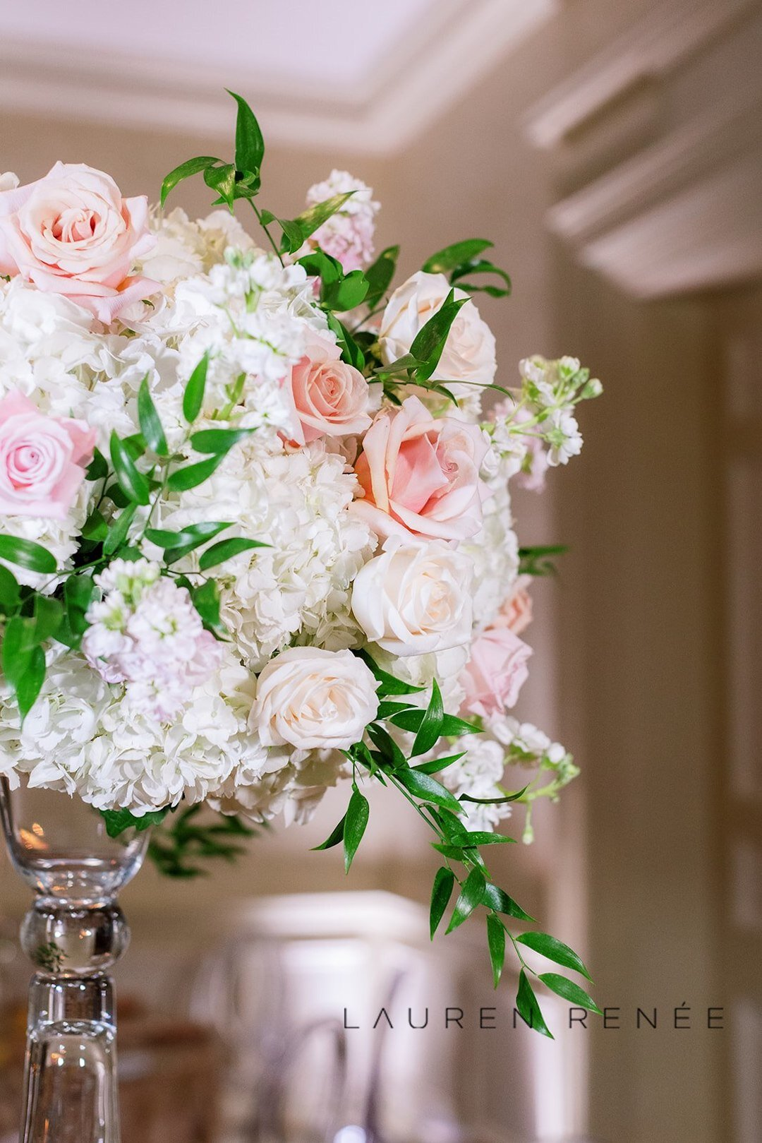 Mocha Rose Centerpiece: Romantic Blush Wedding at the Pittsburgh Field Club planned by Exhale Events. See more at exhale-events.com!