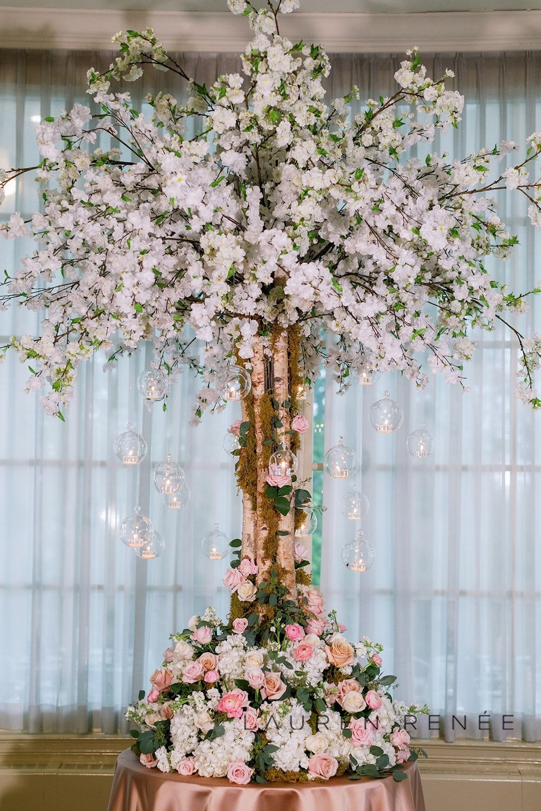 Unique wedding decor idea : Romantic Blush Wedding at the Pittsburgh Field Club planned by Exhale Events. See more at exhale-events.com!