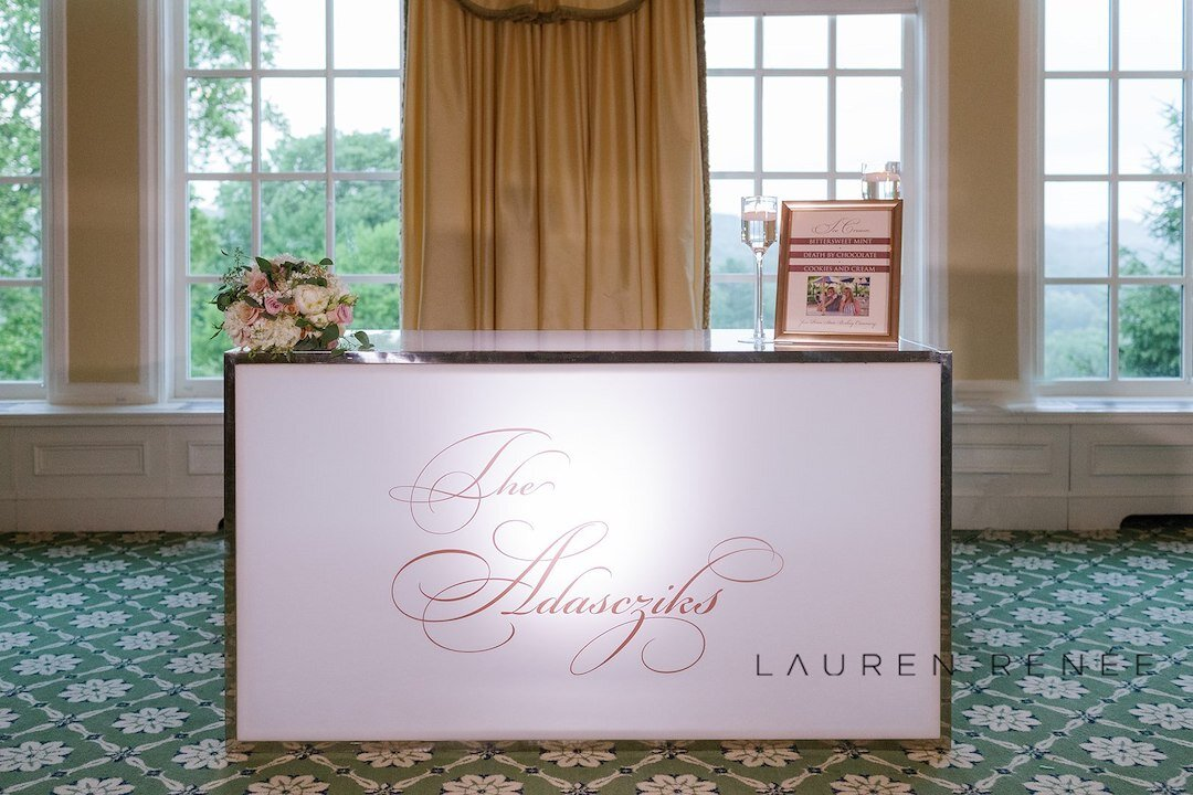 Ice cream bar for wedding: Romantic Blush Wedding at the Pittsburgh Field Club planned by Exhale Events. See more at exhale-events.com!
