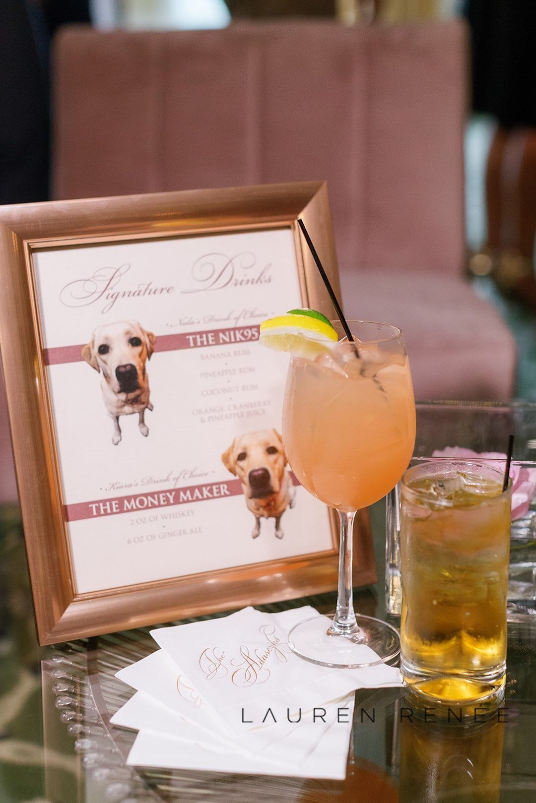 Signature drink idea: Romantic Blush Wedding at the Pittsburgh Field Club planned by Exhale Events. See more at exhale-events.com!
