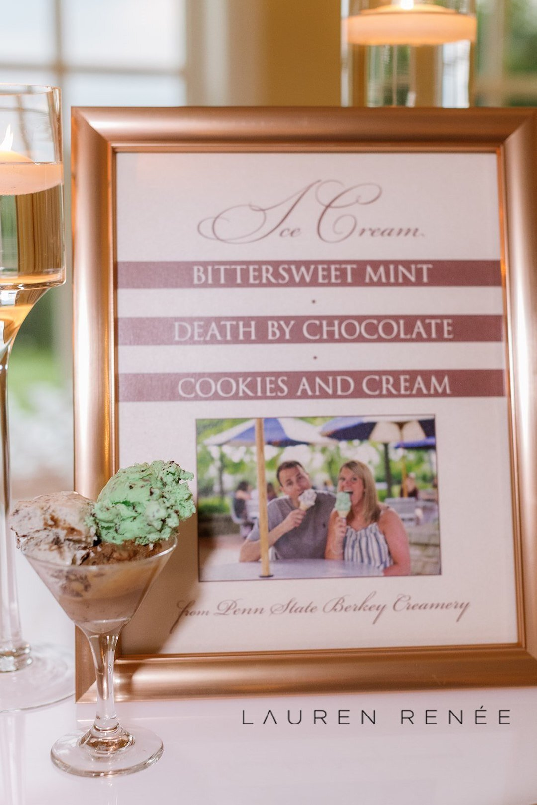 Penn State Creamery Ice Cream: Romantic Blush Wedding at the Pittsburgh Field Club planned by Exhale Events. See more at exhale-events.com!
