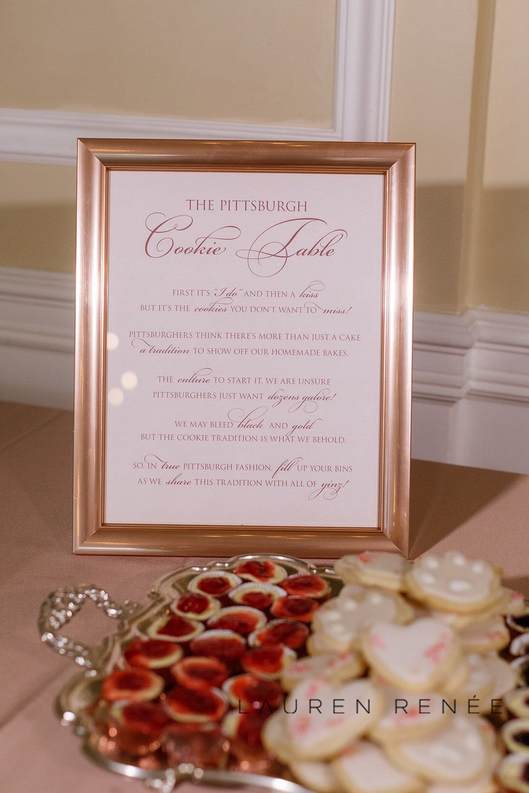 Pittsburgh cookie table: Romantic Blush Wedding at the Pittsburgh Field Club planned by Exhale Events. See more at exhale-events.com!