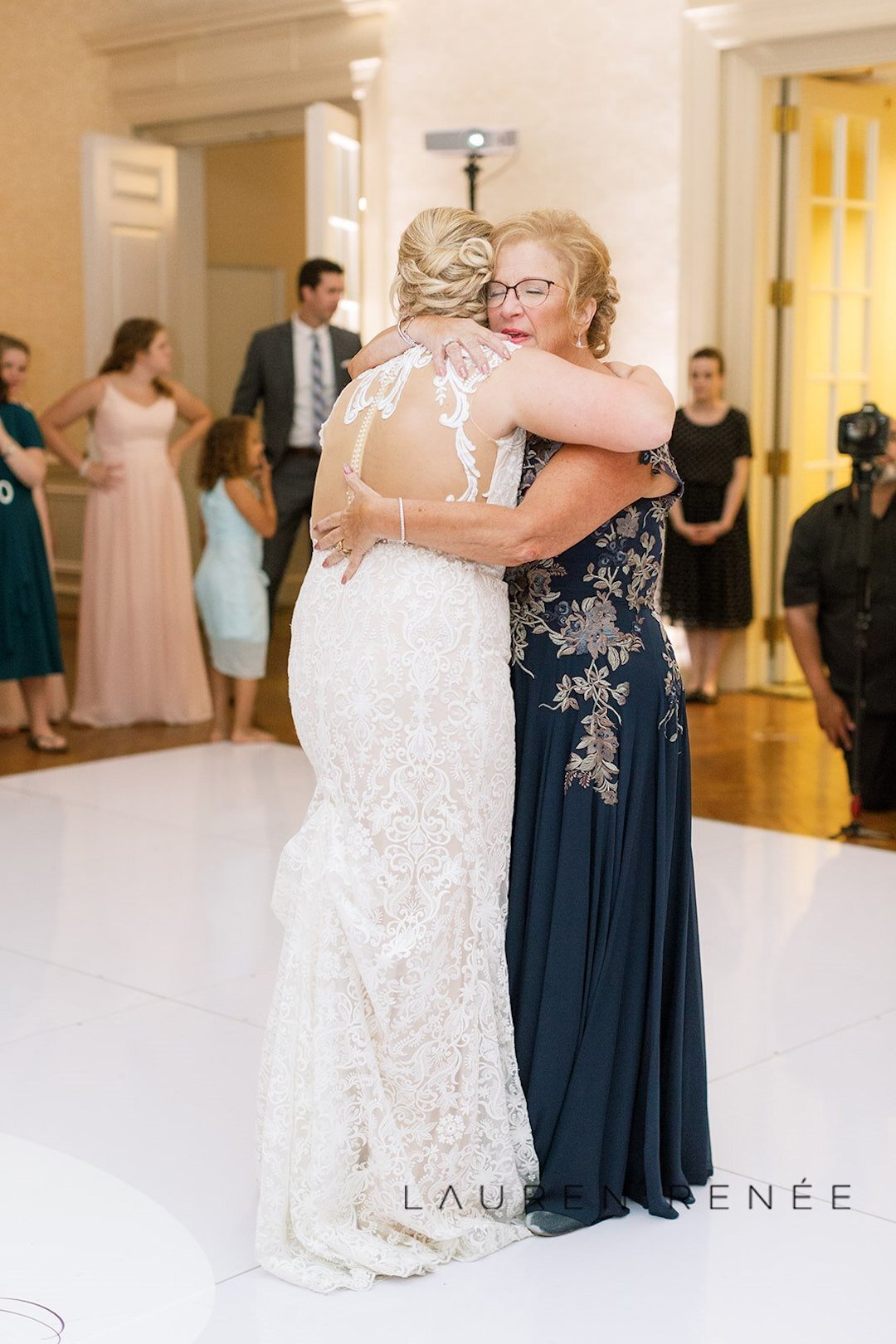 Mother daughter dance: Romantic Blush Wedding at the Pittsburgh Field Club planned by Exhale Events. See more at exhale-events.com!