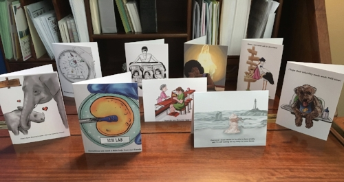 Pictured are just a few of my support cards. There are 13 in the entire collection.