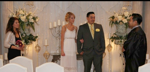 Our wedding day.